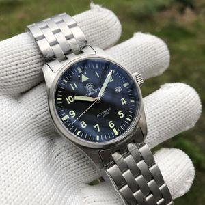 Steeldive NH35 Sapphire Crystal 316L Steel Diver Reloj Automático Auto Wind Warking Watch 200M Japón NH35A Flyger Men