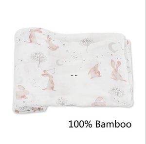 الرضع بطانية مزدوجة الشاش يلف الخيزران الألياف الخيزران القطن الطفل قماط الوليد الرضع لينة حمام منشفة التفاف الوليد يلتف المناشف DHC6432
