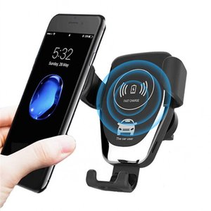 10W Wireless Car Charger Qi Fast Charger Car Mount Air Vent Phone Holder for iPhone Samsung All Qi Devices Air Vent Phone Holder