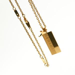 أزياء الشارع قلادة القلائد صفير قلادة للرجل امرأة المجوهرات 6 جودة نوعية جيدة مع مربع