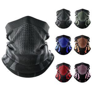 Bandana Mask Cover Neck Warmer Gaiter Bicycle Cycling Ski Tube Scarf Hiking Breathable Masks Print Women Men Winter