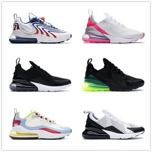 2021 Top Quality Sports 270 React ENG Running Shoes For Men Women Cactus Trails White Bauhaus Blue Triple Black Trainers Sneakers