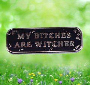 Bitches Witches Halloween Enamel Pin Witchcraft dark magic occult brooch punk badge