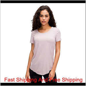 Ladies Fitness Running Quick-drying Breathable Reflective Sports Short Sleeve Yoga T-shirt Lu-58 Seamless Workout qylHDP pets2010