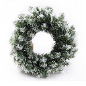 100pcs 인공 식물 플라스틱 소나무 바늘 눈송이 크리스마스 화환 소재 결혼식 꽃 꽃 화환 호 jlses