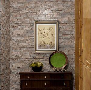 Rettangolo Brick 3D Stereoscopic wallpaper in rilievo roll / soggiorno camera da letto camera TV sfondo parete rivestimento decorazioni cartapaper peint