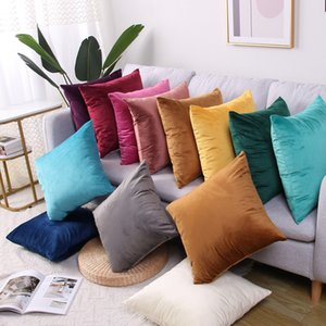 Velvet Cushion Cover Pillowcase Solid Color Pillow Case Home Decor Sofa Throw Pillows Room Pillow Cover Decorative GWA3821
