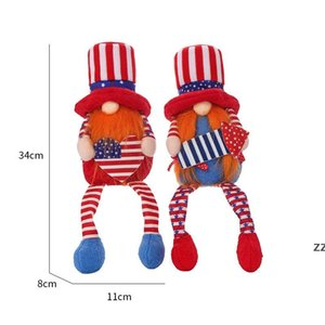 American Party Gnome Patriotic Independence Day Dwarf Scandinavian Ornaments 4th of July Home Desktop Decor Kids Toys HWE9768