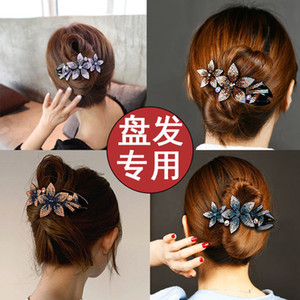 Korean Plate Hair Large Size Grab Back of Hairpin Duckbill Elegant Mother Clip Head Bow