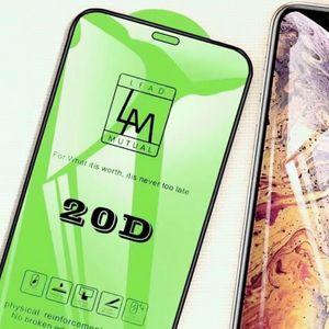 20D حامي الشاشة الزجاج المقسى ل iPhone 12 6.1 برو ماكس 6.7 ميني XS 7G 8 زائد مكافحة بصمات الأصابع 9 h