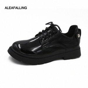 ALEAIMFALLING SUPER CLASSCIAL OFFICE Herren Schuhe Lace Up Relax Buckle Gentleman Weiche Lederstiefel Trend Knöchel Motorrad Boots Stiefel O8xm #