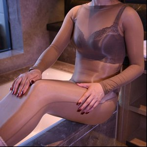 Sexy 8D Glossy Dress Oil Shiny Sheer Body stocking Women for Bodycon Dress See Through Silk Bodysuit Bodyhose Step M27
