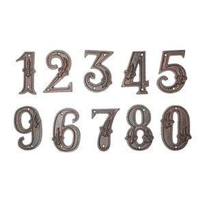 Hardware Door Plates Modern House Number Bronze Door Home Address Numbers for House Digital Outdoor Sign Plates 0-9 Floor Number zyy607