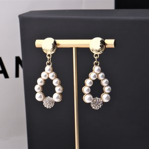 Fashion Dangle Letter Hoop Earrings for Women Party Wedding Lovers Gift Jewelry Engagement