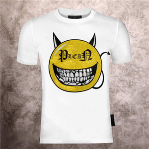 2021 Nouvelle mode décontractée courte courte sourire PP PP PP Crâne T-shirt Creative Tendance T-shirt Wolf Print Coton Sleeve Sleeve