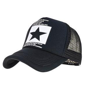 Summer cartoon unisex star baseball cap women truck sun hat fashion visor breathable mesh cap men