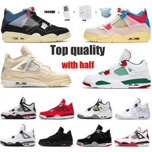 Bred 4s Basketball Shoes Travis Scotts Top Quality For Gift Guava Ice Twist White Cement Sail Cat What The Mens 5s Black Muslin Size 36-46 With Half