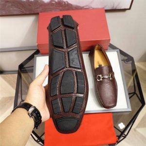 Scarpe da uomo di lusso di alta qualità Designer di cuoio di alta qualità Uomo Mocassini Scarpe Vintage Nappa Uomini Slip on Outdoor Oxford Scarpe Mocassin Homme Delocd