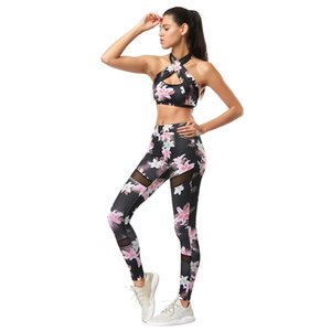 Wholesale-Sports Suit Fitness Clothing Gym Tracksuit Women Sexy Running Yoga Set Padded Sports Bra Leggings
