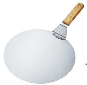 Coltelli da cucina Pizza Peel 10 pollici, sollevatore di torta, spatola in acciaio inox con manico in legno di gomma, vassoio a paletto per cucinare casalinga hwa5900
