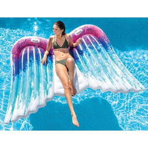 250cm 98inch Angel wing Float Swimming Float Inflatable Swimming Ring Ride-on Butterfly Pool Tube Summer Water Toy Piscina
