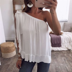 Mulheres Verão Camisetas Sólido Off Shoulder Ladies Casual Tops Plus Size Womens Roupas Candy Color Loose