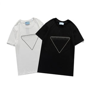 21ss 새로운 여성의 티셔츠 패션 일치 트렌드 편지 스팽글 패턴 고품질 짧은 소매 남자의 티셔츠 크기 S-2XL WF2012251