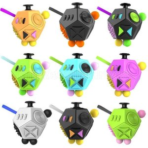 Fidget Dice Second Generation Fidget Cube Holy Crystal Magic Cube Anti Anxiety Decompression Finger Toys US Stock