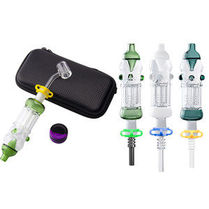 OD 32mm Plus 14mm Titanium Nail Ceramic Quartz Tip SS Dabber Bag Set Arm Tree Perc Oil Rig Glass Water Bong Smoking Pipes