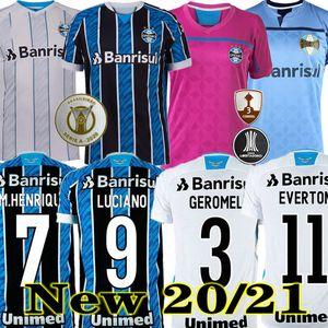 Top Thai Qualità 20 21 Gremio Home Casa 3 ° calcio Jersey Guild Giuliano 2020 2021 Ramiro Geromel Luan Maicon Fernandinho Away Camicia da calcio