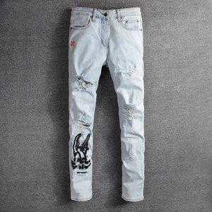 En automne Nouveau jean slim brodé