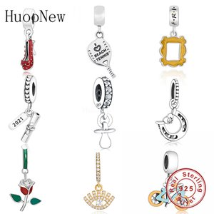HuoOnew Fit Pandora Charms Bracelets 925 Sterling Silver Baby Treasure Chapifier Beads para mujeres Joyería Haciendo Berloque C0309