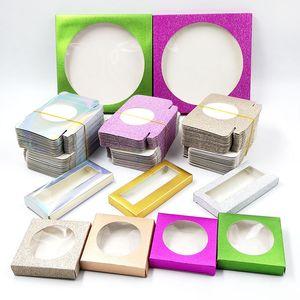 50pcs Packing box for eyelash blank eyelashes package Multicolor paper box Eyelashes DIYflash packing box makeup