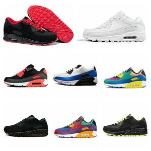 الرجال النساء 90s الأحذية الثلاثي الأبيض الوردي الأزرق رمادي أسود croc infrared رجل الأزياء المدربين في الرياضة أحذية رياضية 36-45