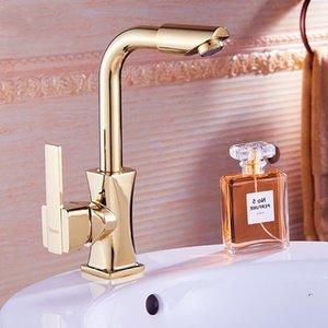 2021 Nova lavagem de estilo europeu BasinFaucet rosa cor-de-rosa punho único giratório bore universal toque pia léh1