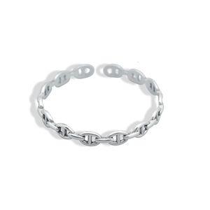Shishang make old pig nose chain S925 silver bracelet light luxury Bracelet temperament Japanese and Korean handpieces TI4P