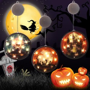 Halloween Toy Battery Light Pumpkin Head Christmas Color Painting LED Lamp Bar Ghost Festival Atmosphere Arrangement Party Suction Cup Hanging Lights