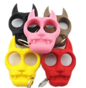 2021 new tiger head key chain tiger head plastic steel finger tiger plastic finger ring Mini girl self defense finger ring96