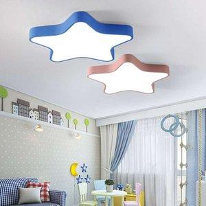 Nordic Cartoon LED macaron ceiling lamp colorful five-pointed star bedroom light children's room shell kit aisle balcony lighting R182