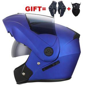 Cascos de motocicleta 2021 Flip Up Motocross Casco Casco Casque Moto Cara completa con encapacetes de Sunvisor Interior para Motorbike para niños