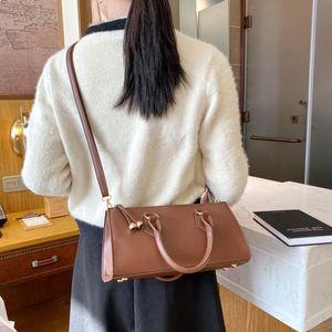 Новая повседневная длинная портативная однократная сумка для плеча кофе французская палочка сумка женская мода текстура продвинутый стиль моды на молнии