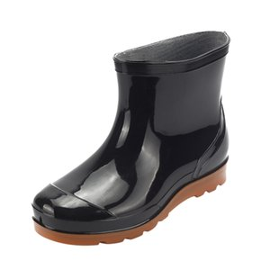 2021 SAGACE Boş zaman Erkek Botları Düz Düşük-Heeled Yağmur Çizmeleri Erkekler Yuvarlak Burun Ayakkabı Kış Çizmeler Erkekler Kaymaz Su Geçirmez Orta Tüp Ayakkabı