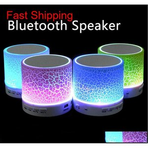 Led Mini Bluetooth Speaker Bs008 Wireless Portable Music Speaker Sound Box Subwoofer Tf Usb Loudspeakers For Phone Pc Zxxpm Snu7D