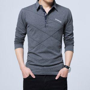 2021 New t Shirts Full Turn Down Collar Cotton Slim Fit Casual Tshirt Men Fahison England Style Male Tops Tees Mens Clothing M-5xl Pbm9