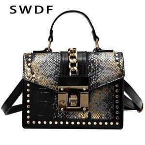 SWDF Femmina Crossbody Tote Bags Donne Qualità Leather Luxury Handbags Designer Sac Main Ladies Serpentine Spalla Borsa a tracolla