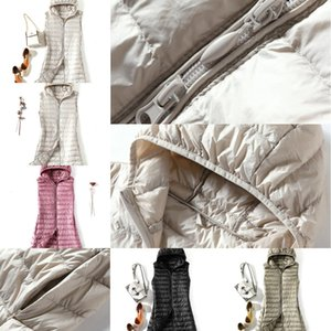 0KNVSedutmo Winter Plus Size 3XL Womens Donsjacks Ultra Licht Lange Hooded Vest Casual Vest Herfst Jas Slim Parka ED913 1 IC4H