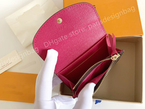 M41939 Classic Women Wallet leather multi color coin purse short wallet Polychromatic purse lady Card holder classic mini zipper pocket