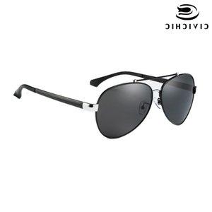 Civílice Nueva moda Hombres Gafas de sol polarizadas Ranas Clasísticas Fish Fish Eyewear Eviertas Eviertas El Sol Marco de Aluminio Gafas E217