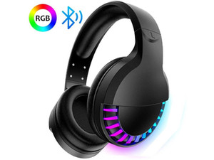 Wireless Gaming Headset, Over-Ear Headphones with Bluetooth 5.0, RGB Backlight Headset for PS4, PC, Mac, Mobile,Xbox One Controller
