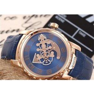 럭셔리 시계 괴물 남성 패션 디자이너 여러 가지 빛깔의 클론 시계 공장 시계 슈퍼 48mm 자동 블루 다이얼 로즈 골드 tourbil